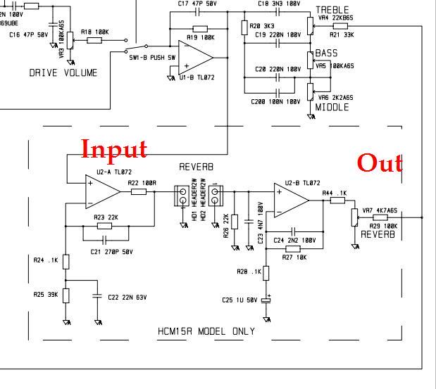 Spring Reverb on tremolo circuit schematic