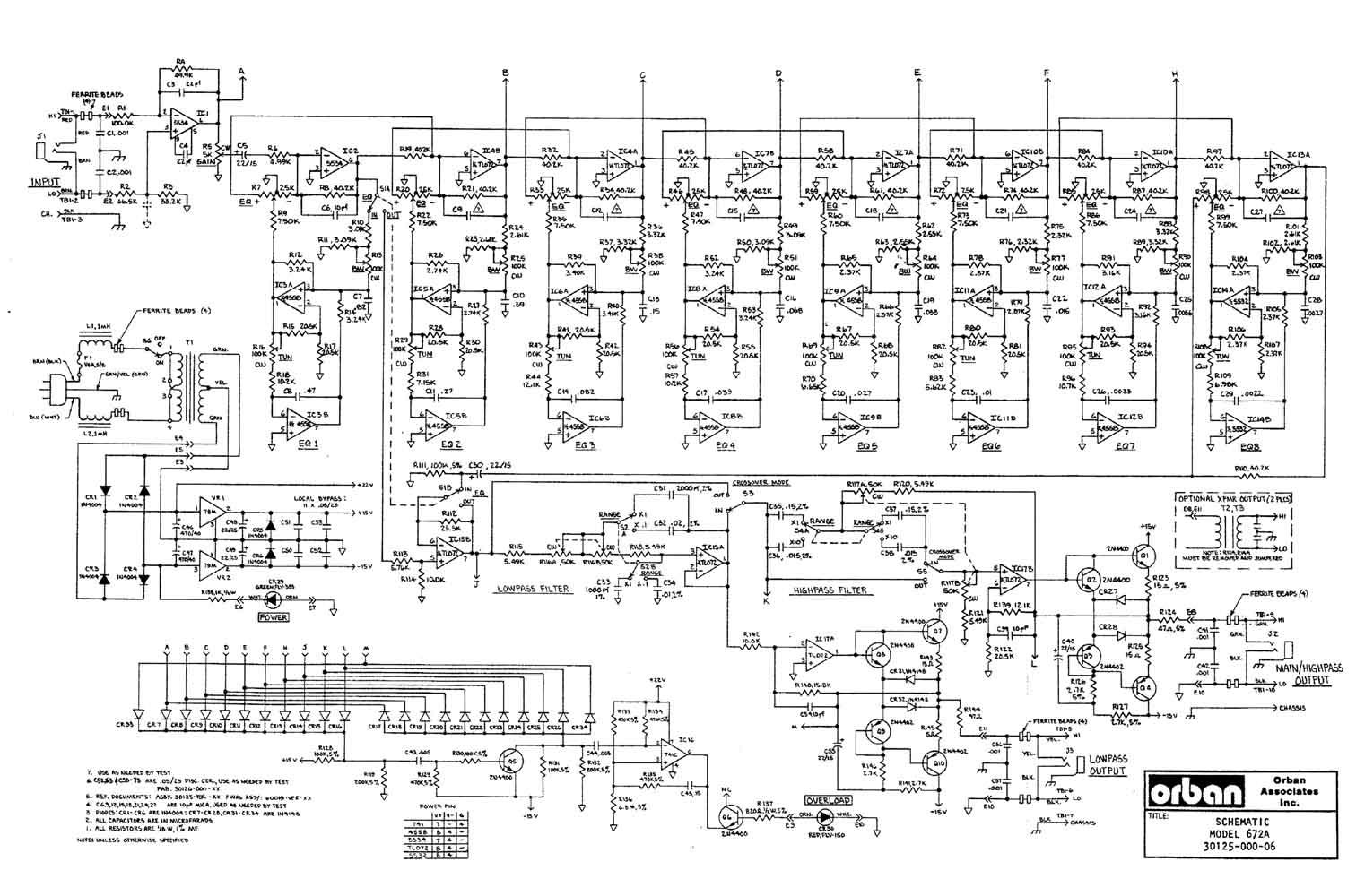 Orban Associates 672A 672a jpg guitar effects guitar pedals equalizer orban associates Speaker Wiring Diagram at n-0.co