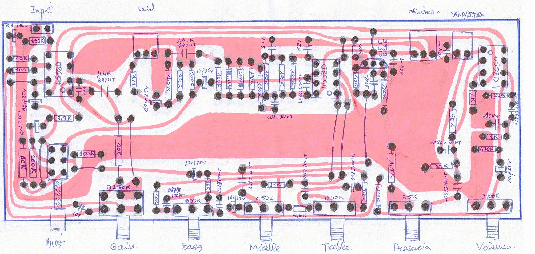 obrazek: Ibanez Valbee 5W schemat półmontażowy  - elektronika i schematy- - Wzmacniacze gitarowe Top brands - IBANEZ - IbaneźValbeęVBŚMixed sides