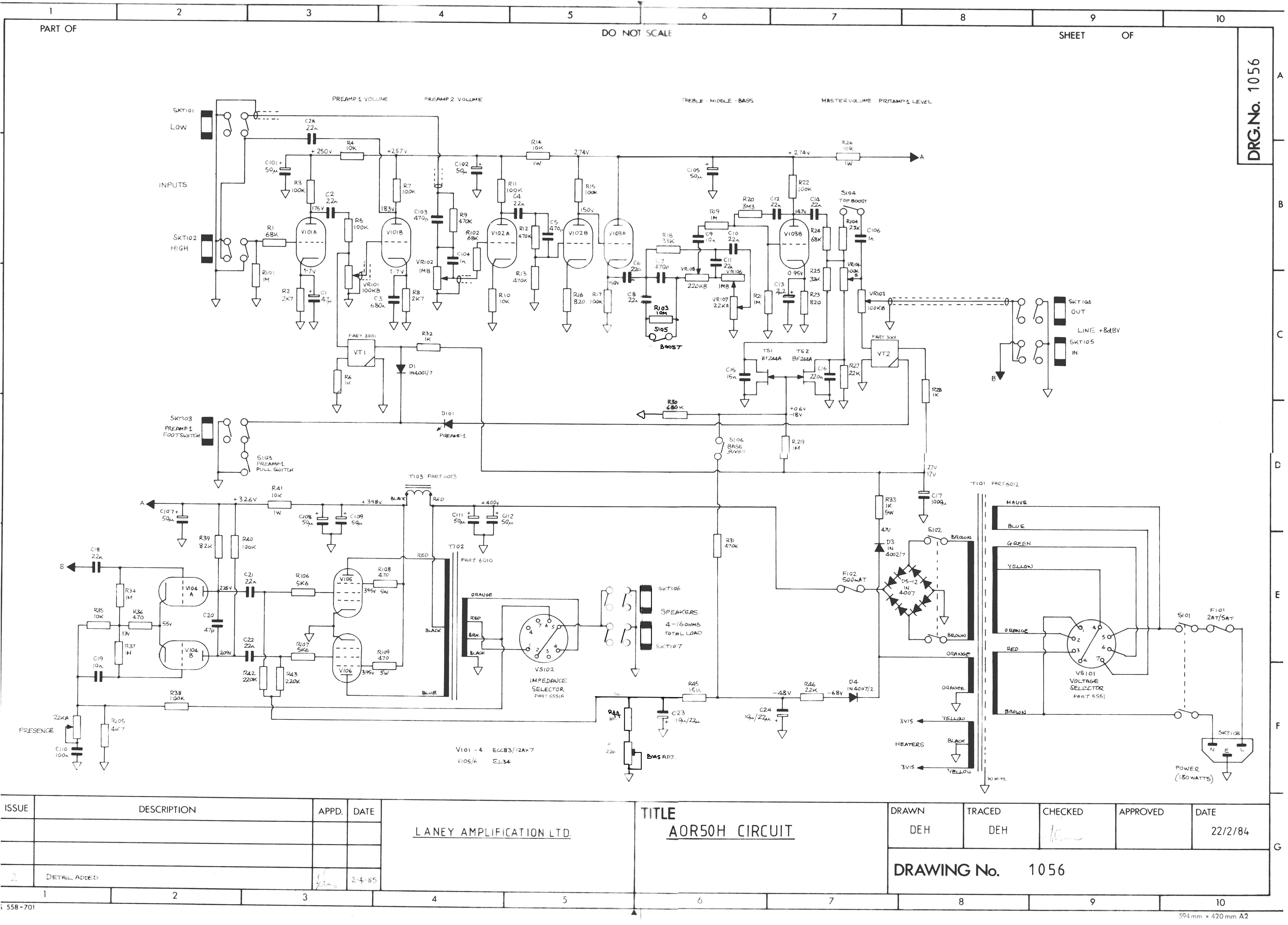 amplifiers head combo drawings/LANEY/AOR50H[pict] - schemes drawings