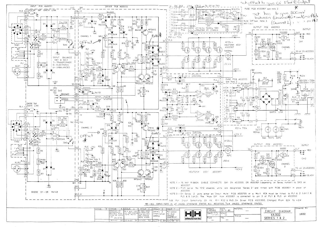Amplifiers Head Combo Drawings  Laney  Vx900 Pict
