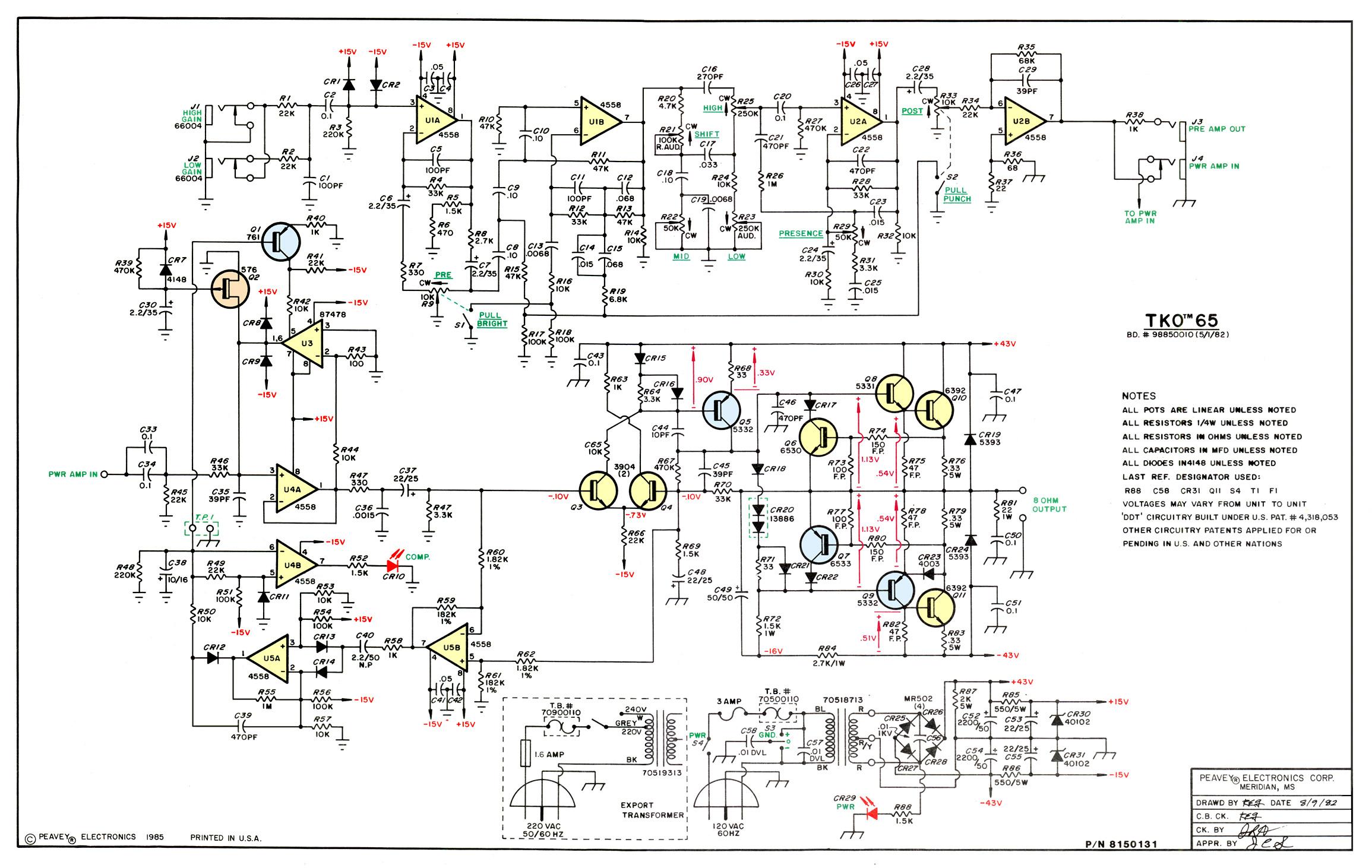 Exelent Peavey Rockmaster Schematic Ensign - Wiring Diagram Ideas ...