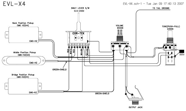 EVL X4 04 guitar wiring drawings, switching system cort evl x4 04[pict emg-x wiring diagram at bakdesigns.co