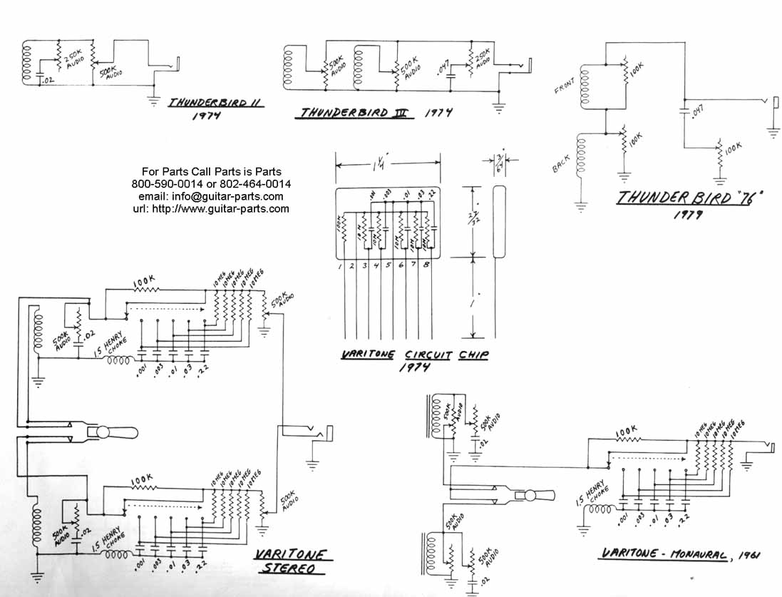 Gibson Thunderbird guitar wiring drawings, switching system gibson gibson thunderbird epiphone nighthawk wiring diagram at bayanpartner.co