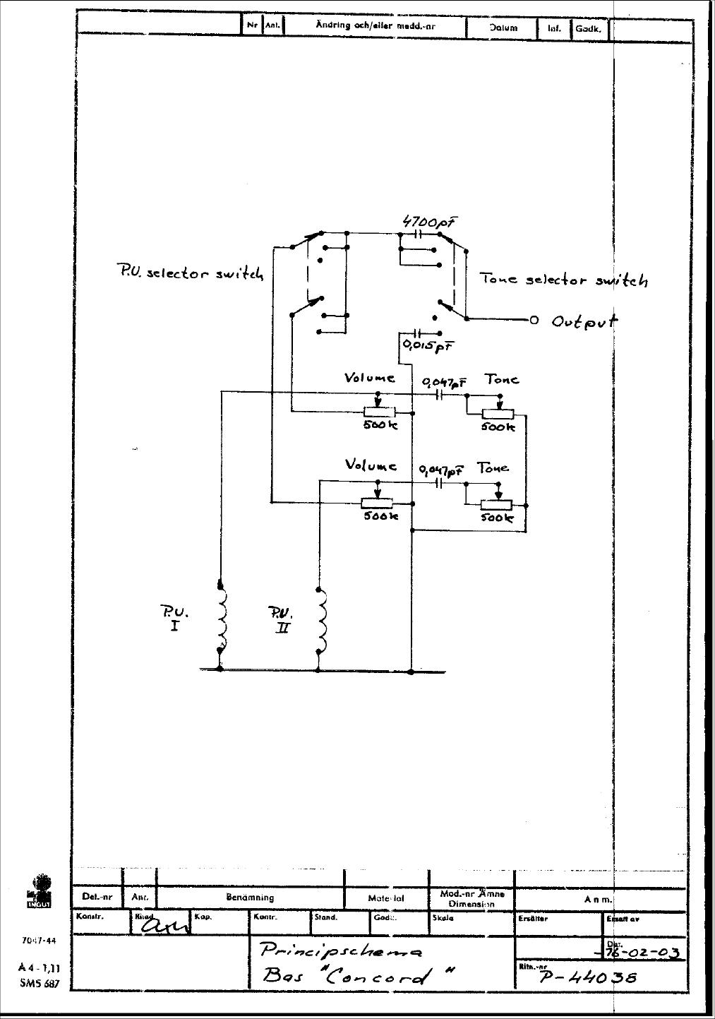 Guitar Wiring Drawings Switching System Hagstrom Concord 1976 Bas Diagrams Picture Przystawki2
