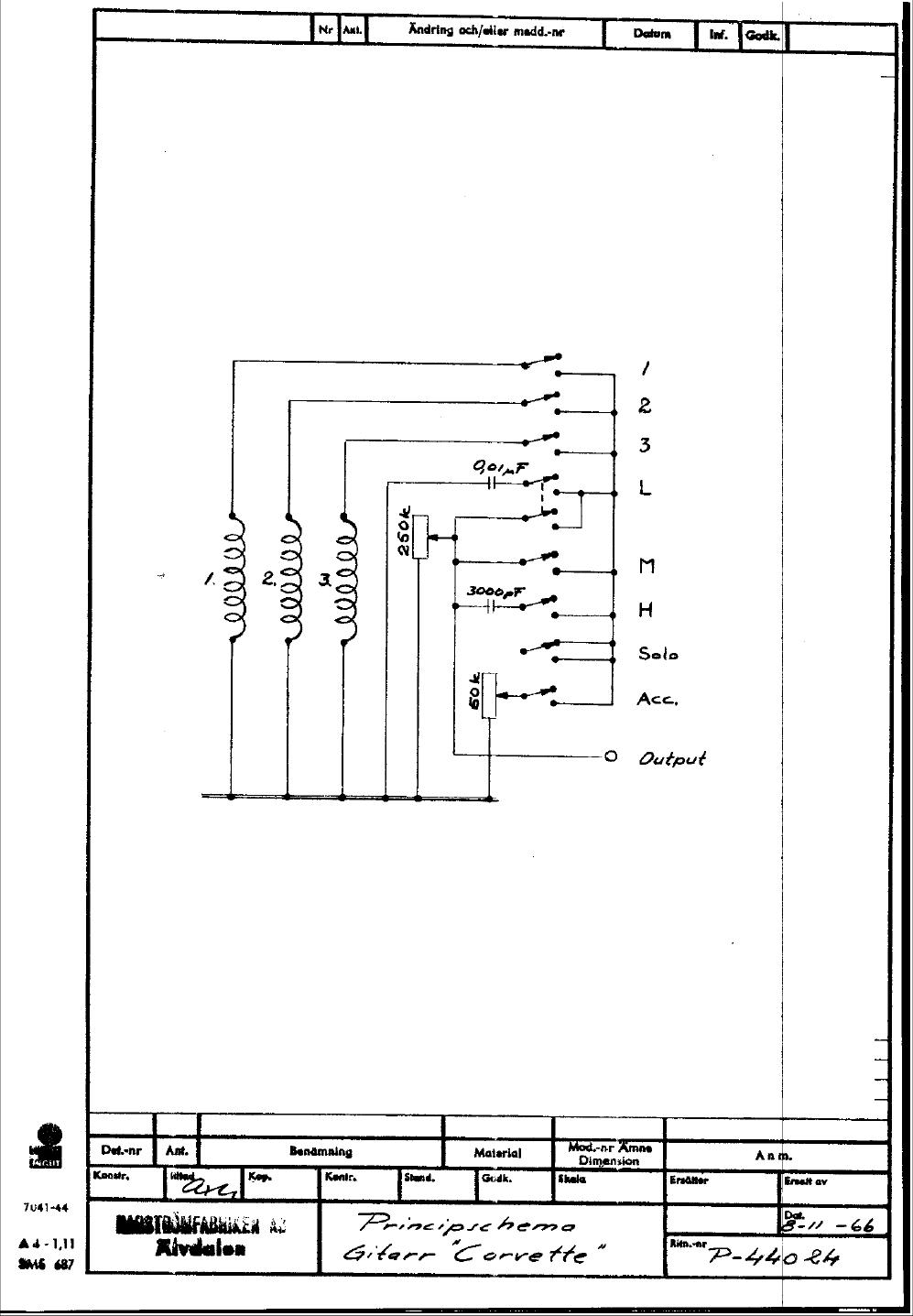 Hagstrom Wiring Diagrams Trusted Silvertone Diagram Guitar Drawings Switching System Corvette 1966pict