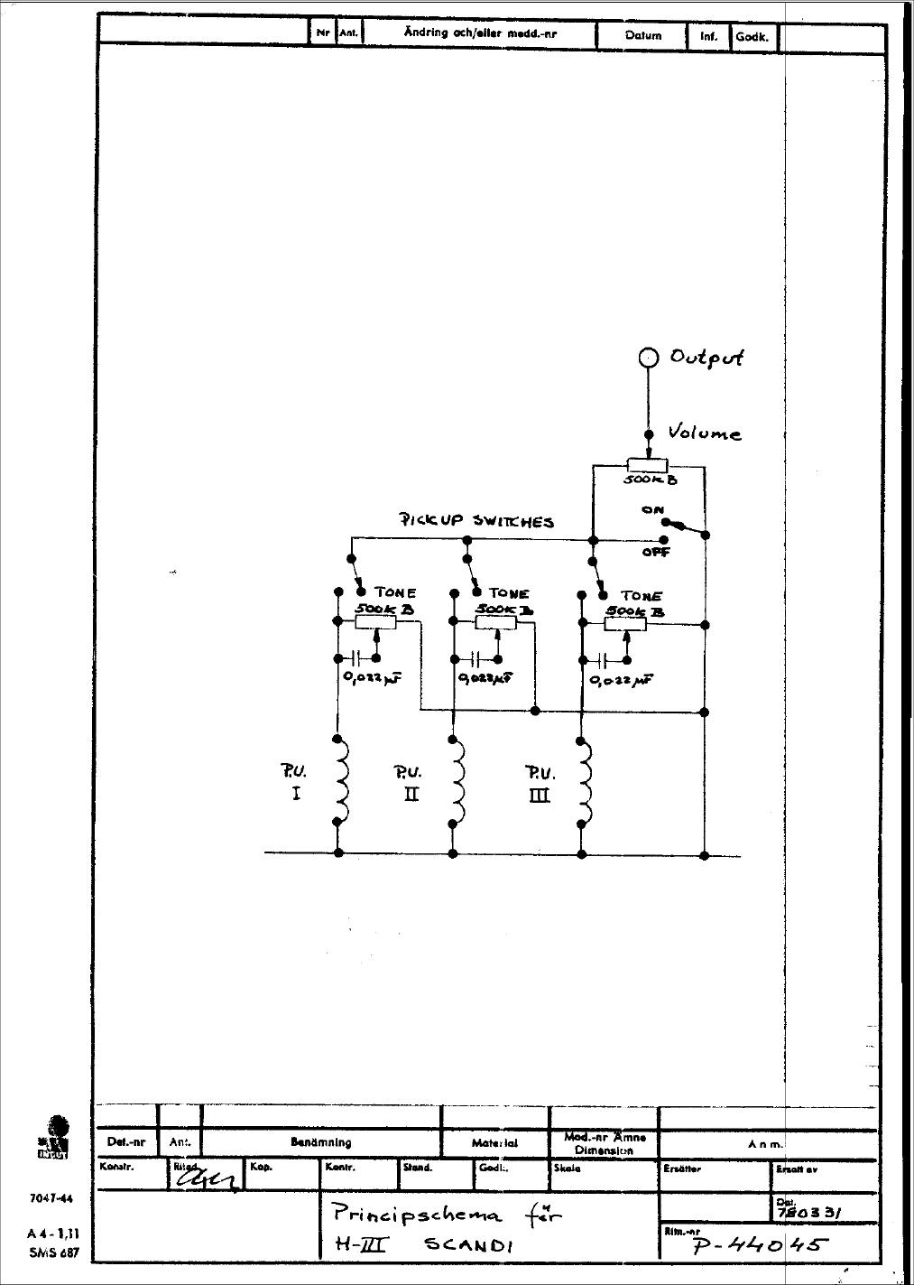Hagstrom Guitar Wiring Diagram : Hagstrom guitar schematics get free image about