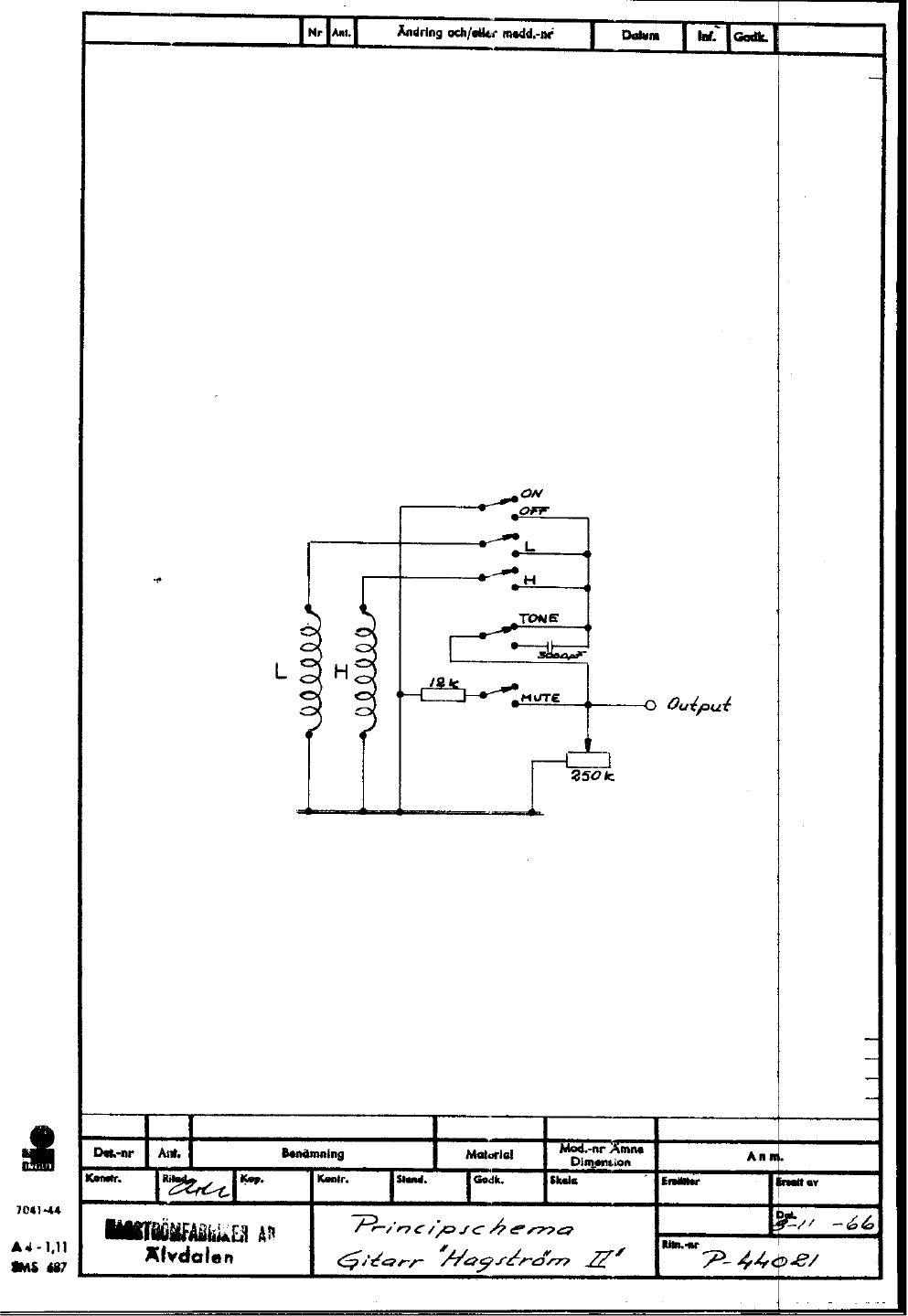 Hagstrom Guitar Wiring Diagram : Hagstrom wiring diagrams sl diagram