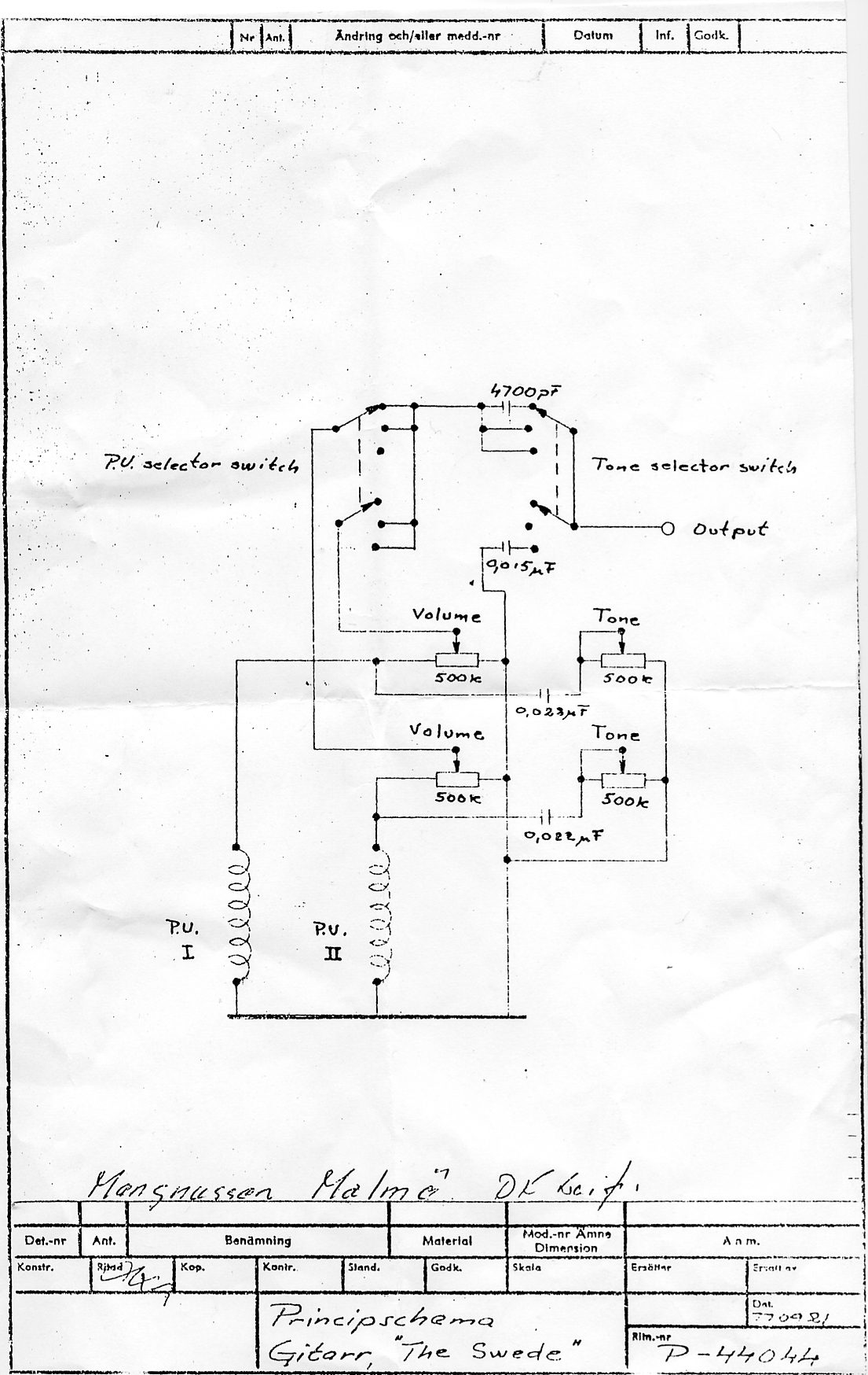 Hagstrom Wiring Diagram Another Blog About Jackson King V Guitar Schematics Get Free Image Swede Viking