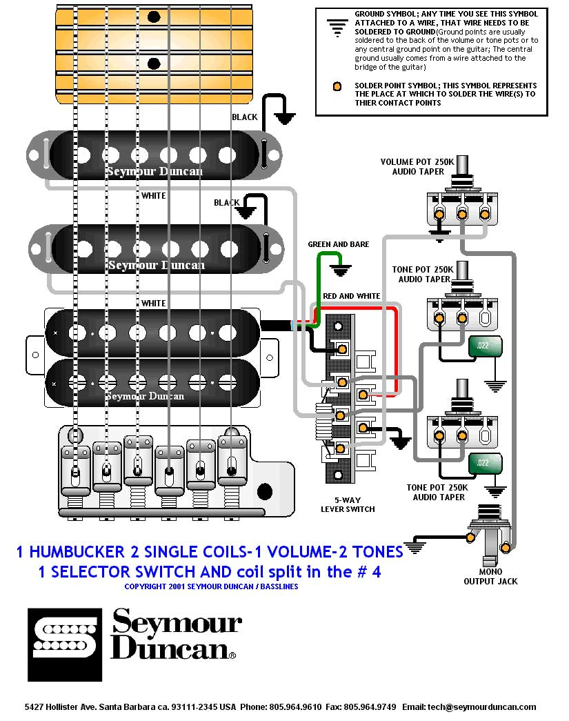 1 Volume 2 Tone Humbucker Kill Switch Wiring Detailed Schematic Single Guitar Diagrams Drawings Switching System Seymourduncan 1hb 2single Diagram For Stratocaster