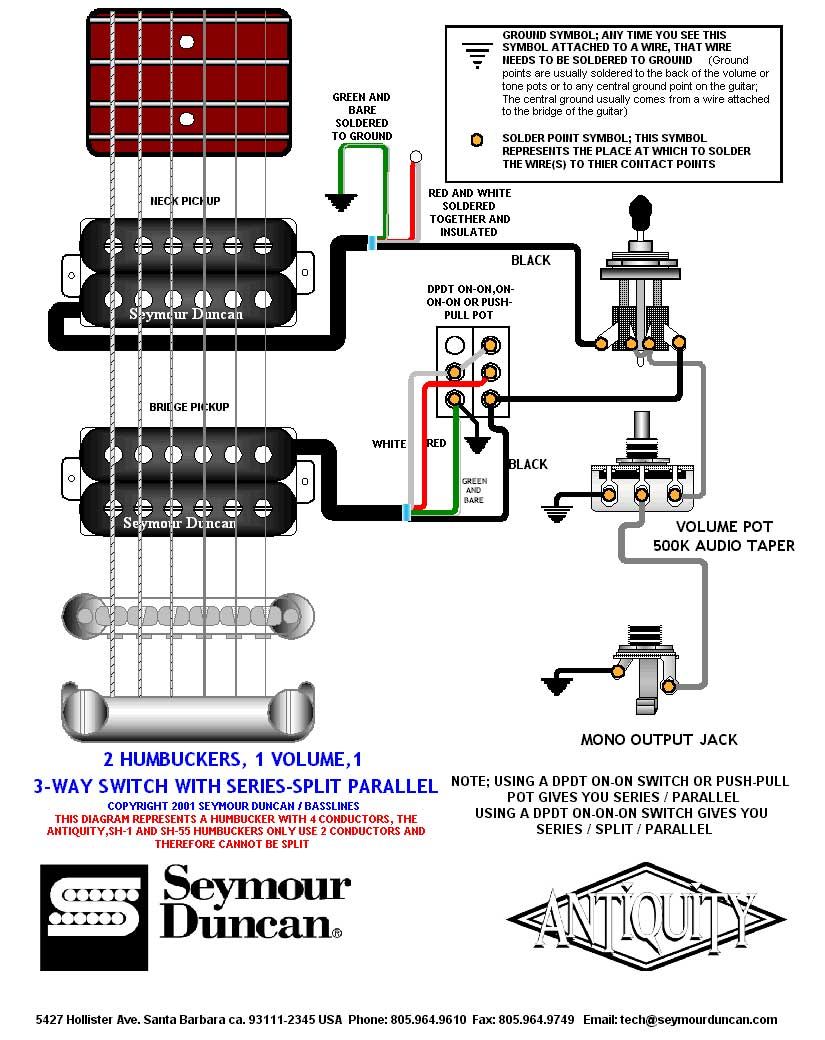 3 Pickup Wiring Diagram : Rockfield pickups wiring diagrams pickup safety