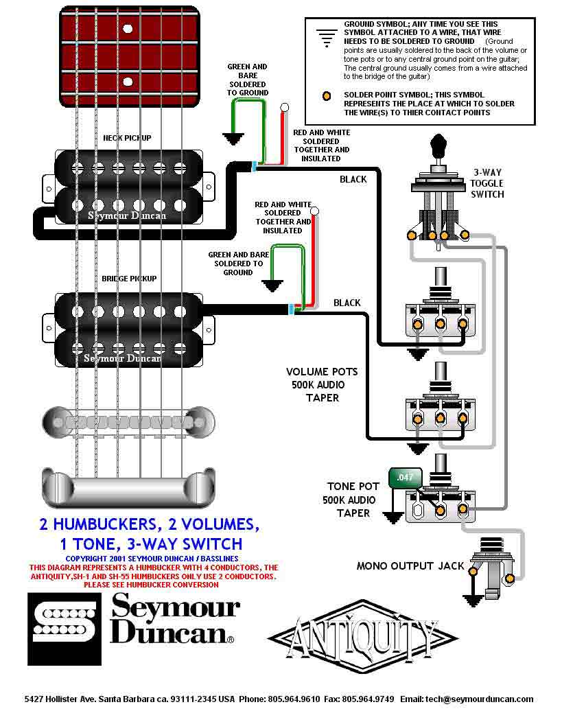 guitar wiring drawings switching system seymourduncan 2hb. Black Bedroom Furniture Sets. Home Design Ideas