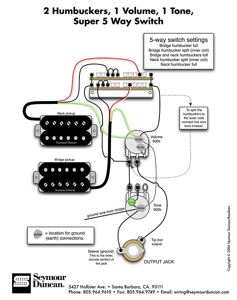 dimarzio 3 way switch wiring diagram