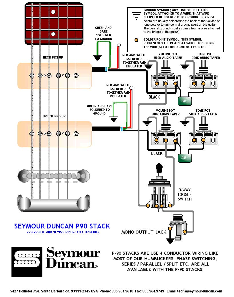 Wiring Diagram For 2 P90 Pickups | Wiring Diagram on wiring a switch from a switch, three way switches diagram, electrical switches diagram, electrical outlets diagram, switch diagram, three prong power cord diagram,