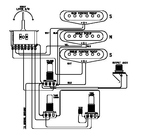 schematic of electric guitar tremolo