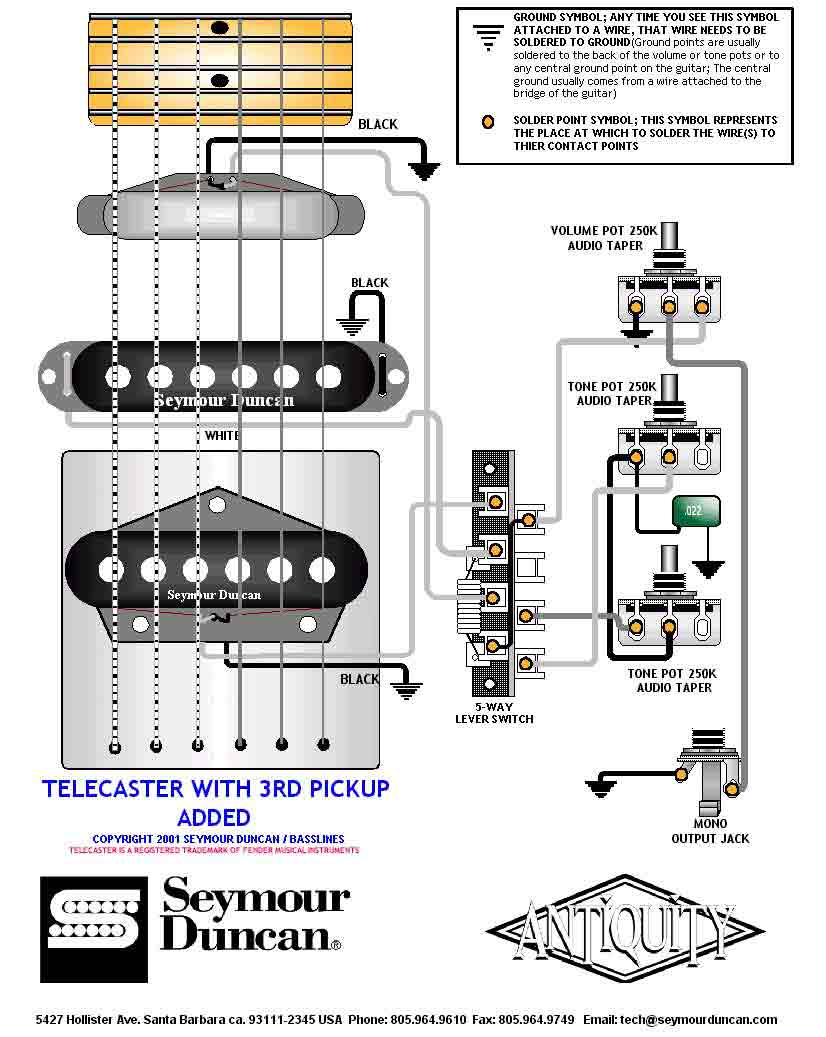 Wiring Drawings Switching System Telecaster Seymour 3pickup ... on