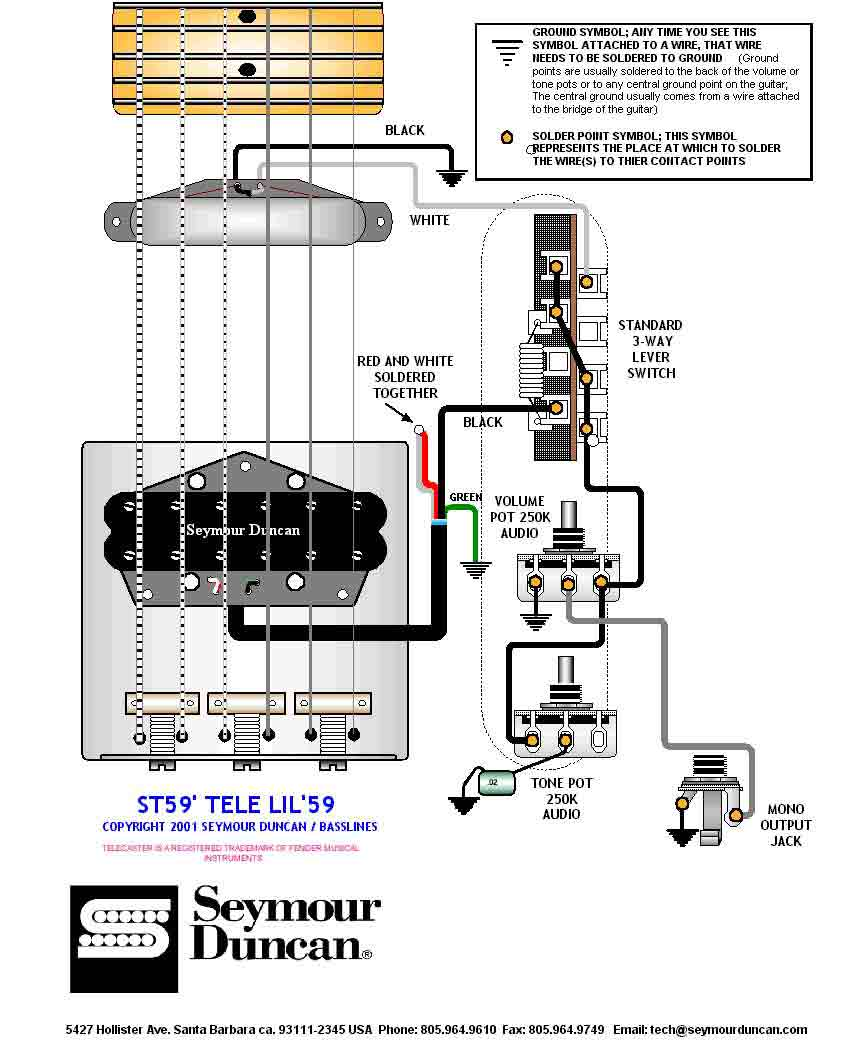 Wiring Diagrams Seymour Duncan Telecaster Guitar. Seymour ... on