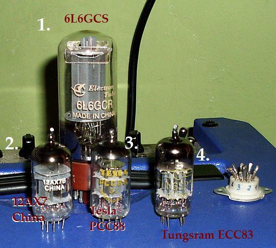 obrazek: [popular] ECC83 PCC88 12AX7B 6L6GCŚChinąTesląTungs...